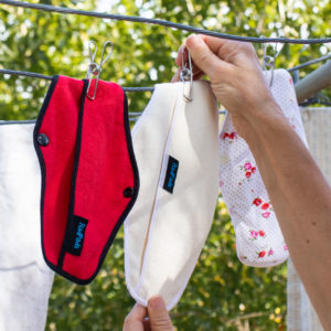 Hemp Fleece Pants Liners on clothesline